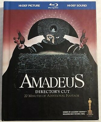 Amadeus (Blu-ray Disc, 2009, 2-Disc Set, Digibook, Bonus CD) OOP