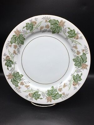 Replacement Noritake China Daphne Green Leaf 10 1/2 Inch Dinner Plate !