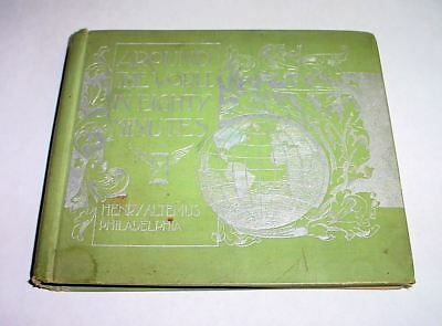 Around the World in Eighty Minutes 1894 Antique Book of World Scenery