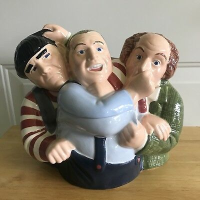 1997 Clay Art The Three Stooges Cookie Jar Moe Larry Curly