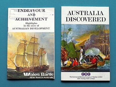 THREE vintage Australian BANK booklets - Commercial Banking Co. - Bank of NSW