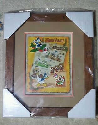 Donald's Travel Journal Disney 5 Pin AP Framed Set LE 72 Daisy Nephews RARE