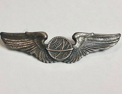 """Original WWII US Army Air Forces STERLING A.E. Co. Utica Navigator Wings 3"""""""