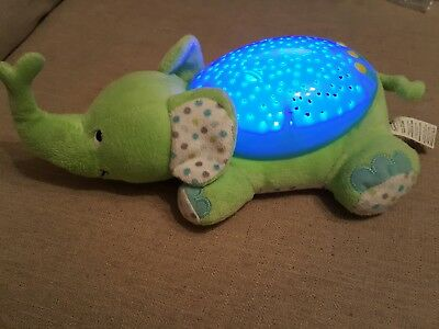 Summer Infant Slumber Buddies Elephant Night Light Baby Nursery Projector Green