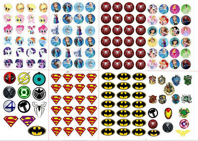superman batman spiderman logo Frozen pony princess  stickers decal party gift