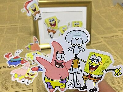 10x Spongebob Patrick sticker decal scrapbook party bag candy bag