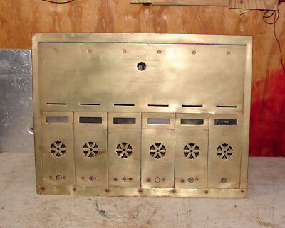 ANTIQUE VINTAGE APARTMENT Building Recessed wall Mailboxes ...