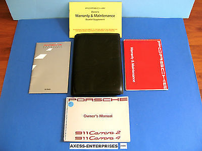 1991 Porsche 964 911 Carrera 2 4 C2 C4  Coupe Cabriolet Owner Manuals Set # J100