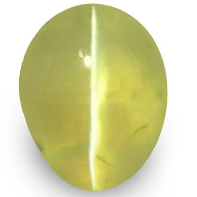 1.21-Carat Greenish Yellow Chrysoberyl Cat's Eye from Ceylon (IGI-Certified)