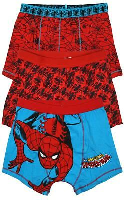 Boys Marvel Spiderman 3 PACK Boxer Shorts Briefs Underpants 2 to 12 Years