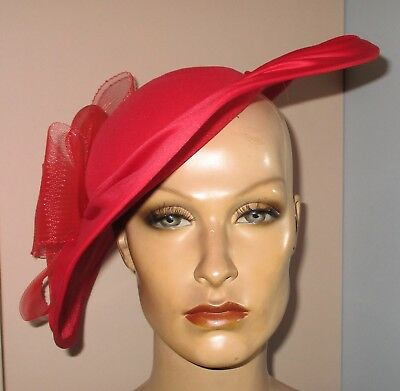 Vintage Red Snazzy Hat Excellent Condition