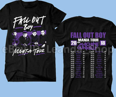 Fall Out Boy T-Shirt MANIA TOUR 2018 w  Machine GunKelly Men s Concert Music 88cc104b26