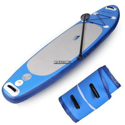 12' Inflatable Stand up Paddle Board Surfboard SUP Adjustable Fin Paddle Blue