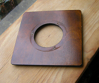 "wooden lensboard 152 x 152mm 6"" square 67.6mm hole used"