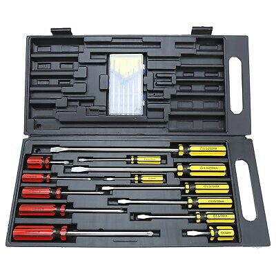 New Craftright 19 Piece Screwdriver Set with Precision set Slotted Phillips Case
