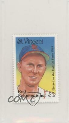 1992 St Vincent Hall of Fame Heroes Stamps #RESC Red Schoendienst Baseball Card
