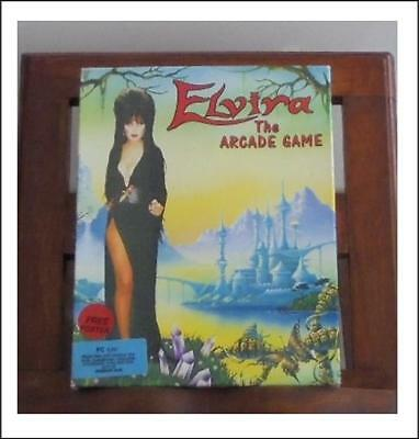 """Elvira The Arcade Game Flair Software for PC 5.25"""" floppy with Poster & Manual"""