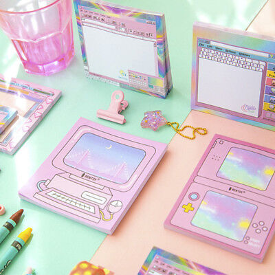 COMPUTER GAMES PATTERN Memo NotePad Sticky Notes Planner