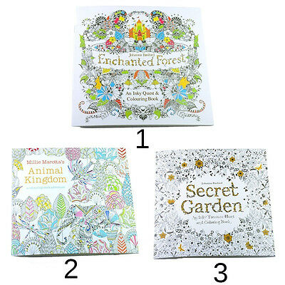 Secret Garden Coloring Books Drawing Exercise Paperbook for Childen Adults Hot