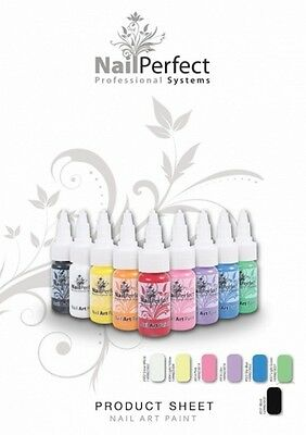Nail Perfect Acrylic paints for one stroke. Set of 7 paints. best in the market.