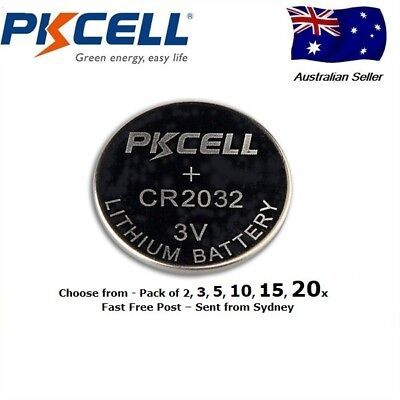 2/5/10/15/20 CR2032 button coin battery 3v Free Post Aus from Sydney. Long last