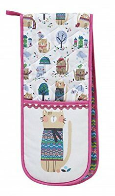 Cozy Cat Double Oven Gloves By Ulster Weavers / Machine Washable / 100% Cotton