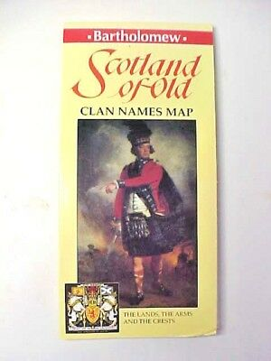 Bartholomew - Scotland of Old - Clan Names Map the - Lands the Arms & the Crests
