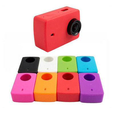 Silicone Case Soft Protective Cover Lens Cap For Xiaomi Xiao Yi 2 II 4K Cam Z UD
