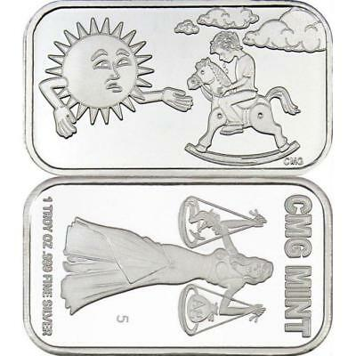 Sunshine by CMG Mint - Prooflike 1 oz .999 Silver Art Bar
