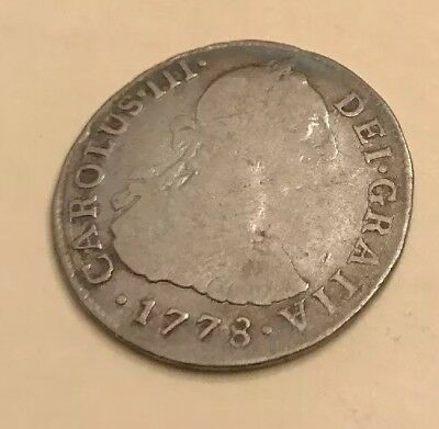 1778 Peru-Lima 2 Reales Silver Coin - Two Real