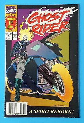 Ghost Rider V2 #1 First Issue Marvel Comics 1990 UPC Newsstand Edition
