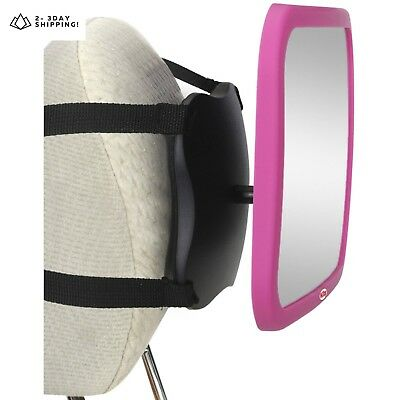 Nuby Back Seat Baby View Mirror, Pink