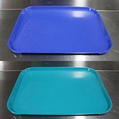 Cambro 14 x 18 Fast Food Tray serving tv 1418FF cafeteria restaurant blue navy