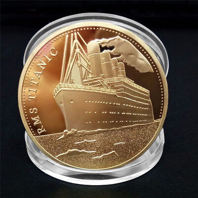 Titanic Ship Collectible BTC Coin Collection Arts Bitcoin Gift Physical Q UD