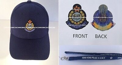 Cap #13 - Hong Kong Police Force(1997 - )w/badge, large badges x 2 & neck strap