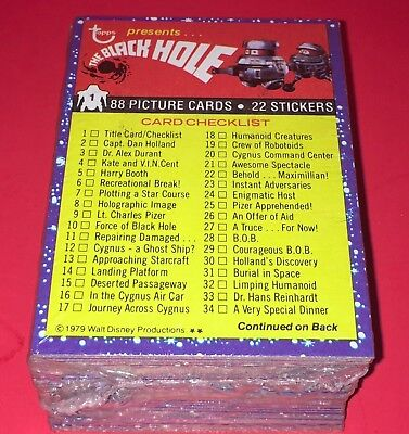 1979 Topps The Black Hole Trading Card Set #1-88 Complete Sealed Nm-Mt