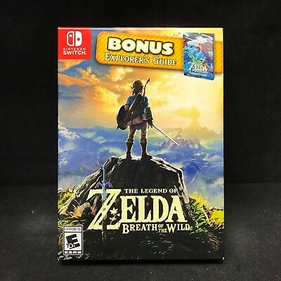 Legend of Zelda Breath of the Wild with Bonus Explorer's Guide (Nintendo Switch)
