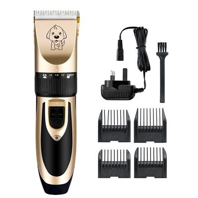 Electric Animal Pet Dog Cat Hair Trimmer Shaver Razor Grooming Quiet Clipper Kit