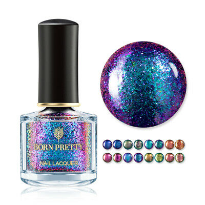BORN PRETTY 6ml Magic Nail Polish Shining Glitter Chameleon Tip Nail Art Varnish