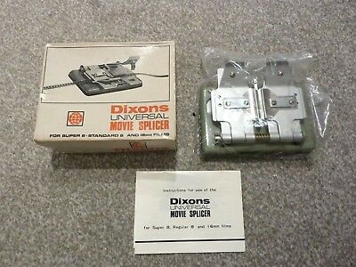 Dixons Universal Movie Splicer for Super 8 - Standard 8 & 16mm Films with Box