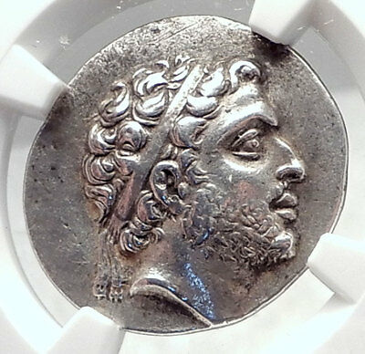 PHILIP V Ancient 184BC Macedonia Greek Silver Didrachm Coin NGC Certified i72391