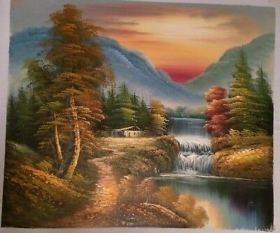 Country Landscape ART PAINTING 20x24""