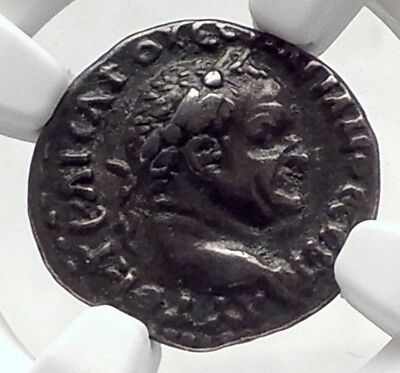 VESPASIAN Authentic Ancient Silver Caesarea Cappadocia Roman Coin NGC i72403