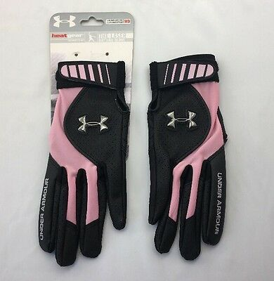 Under Armour Women's The Laser Batting Glove Softball Pink Black Sz Medium NWT