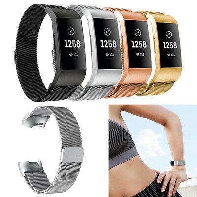 Replacement Metal Wristband Watch Strap Bracelet For Fitbit Charge 3 Accessory