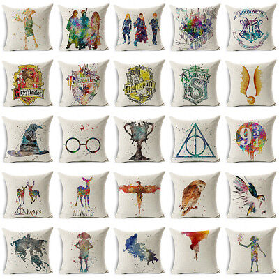 "UK HARRY POTTER CUSHION COVER 17""X17"" Square Pillow Case Home Decor Gift Idea"