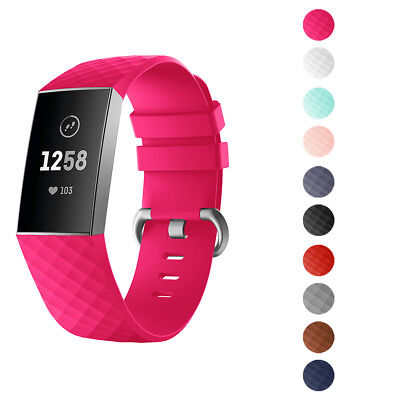 For Fitbit Charge3 Band with Metal Buckle Fitness Wristband Sport Colorful Strap