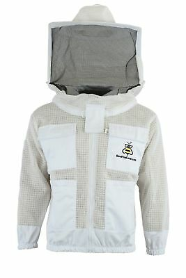 Premium Protecting 3 Layer Ultra Ventilated beekeeping jacket Round veil
