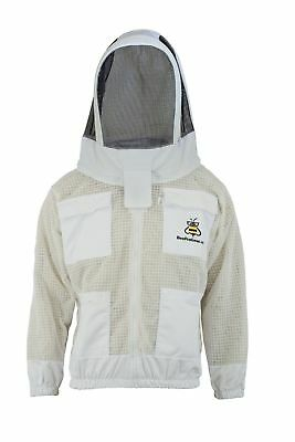 3 Layer beekeeping jacket bee outfit ventilated protective Astronaut Veil hat