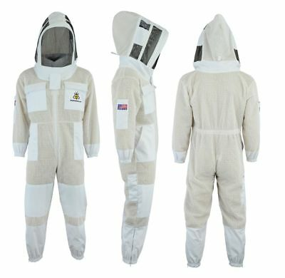 Bee 3 Layer beekeeping full suit ventilated jacket Astronaut veil-all sizes